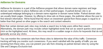 AdSense for Domains