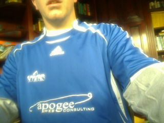 Apogee Web Consulting logo on soccer jersey