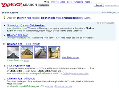 chichen itza yahoo search