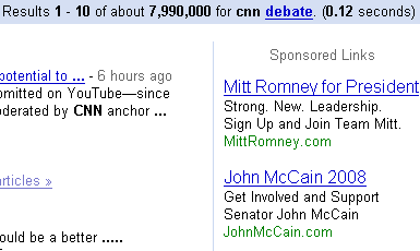 cnn debate search ads