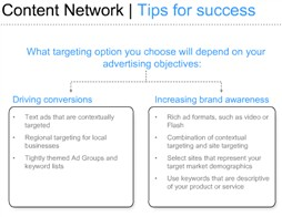google adwords content network tips