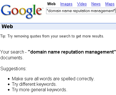 domain name reputation management search
