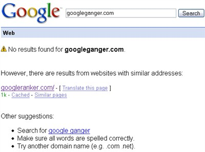 google domain name search