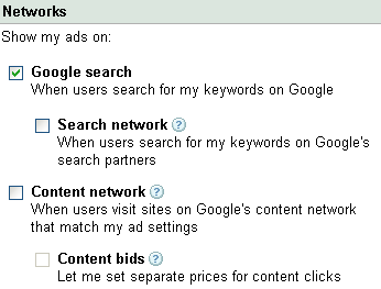 google adwords ad distribution network
