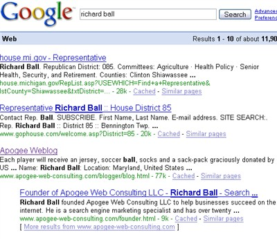 richard ball googleganger