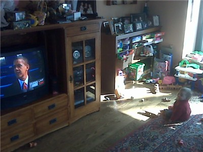 obamas inauguration speech on tv