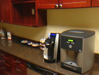keurig coffee machine in business suites kitchen