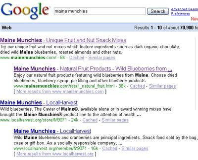 meta description tag on Google