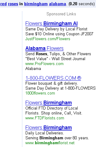 broad match ads on Google
