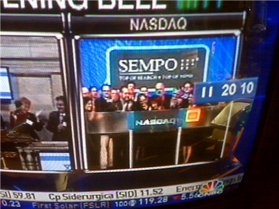SEMPO members ringing bell at NASDAQ