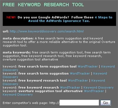 meta keyword research tool