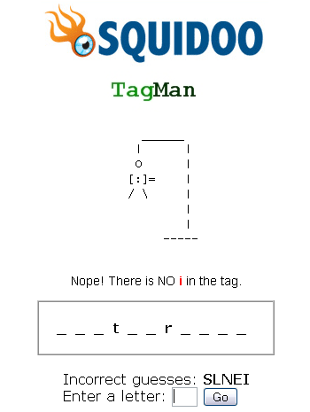Play Squidoo TagMan Game