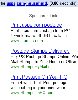 stamps ads on usps.com