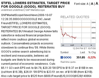 stifel nicolaus on goog