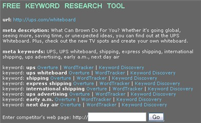 ups.com/whiteboard keyword research