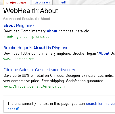 About WebHealth on WebHealth.com