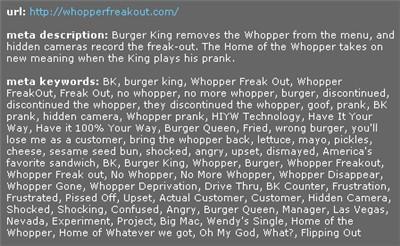 whopperfreakout.com meta tags